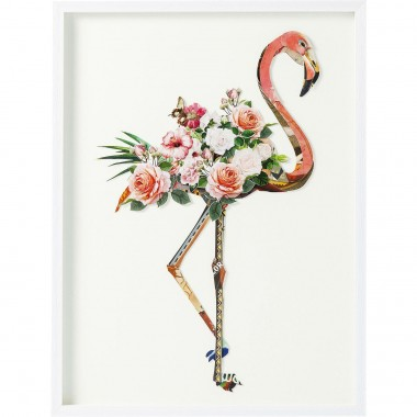 Tableau Frame Art flamant rose 100x75cm Kare Design