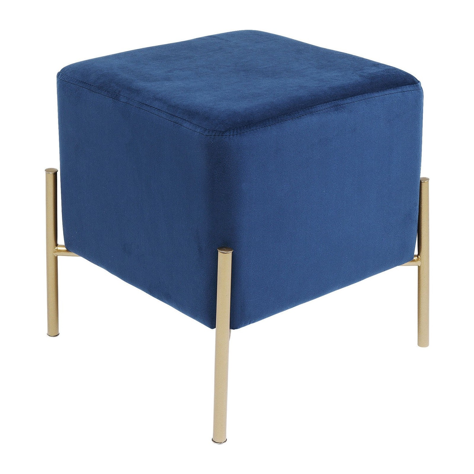 tabouret contemporain bleu et dor franzi kare design. Black Bedroom Furniture Sets. Home Design Ideas