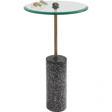 Table d'appoint Terrazzo visible noire 67cm Kare Design