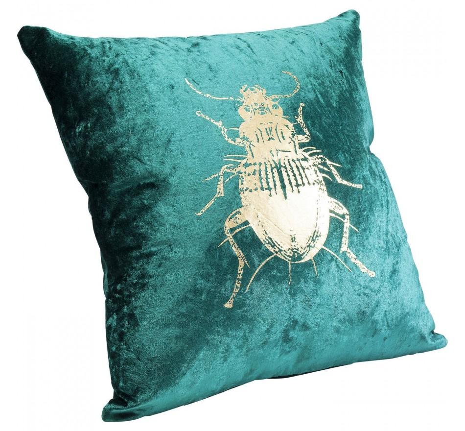 Coussin scarabée vert 45x45cm Kare Design