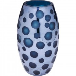 Vase Blue Dots 26cm Kare Design