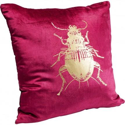 Coussin scarabée rouge 45x45cm Kare Design