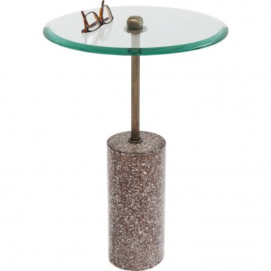 Table d'appoint Terrazzo visible rouge 54cm Kare Design