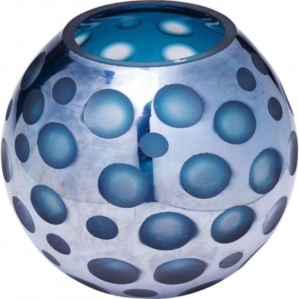 Vase Blue Dots 17cm Kare Design
