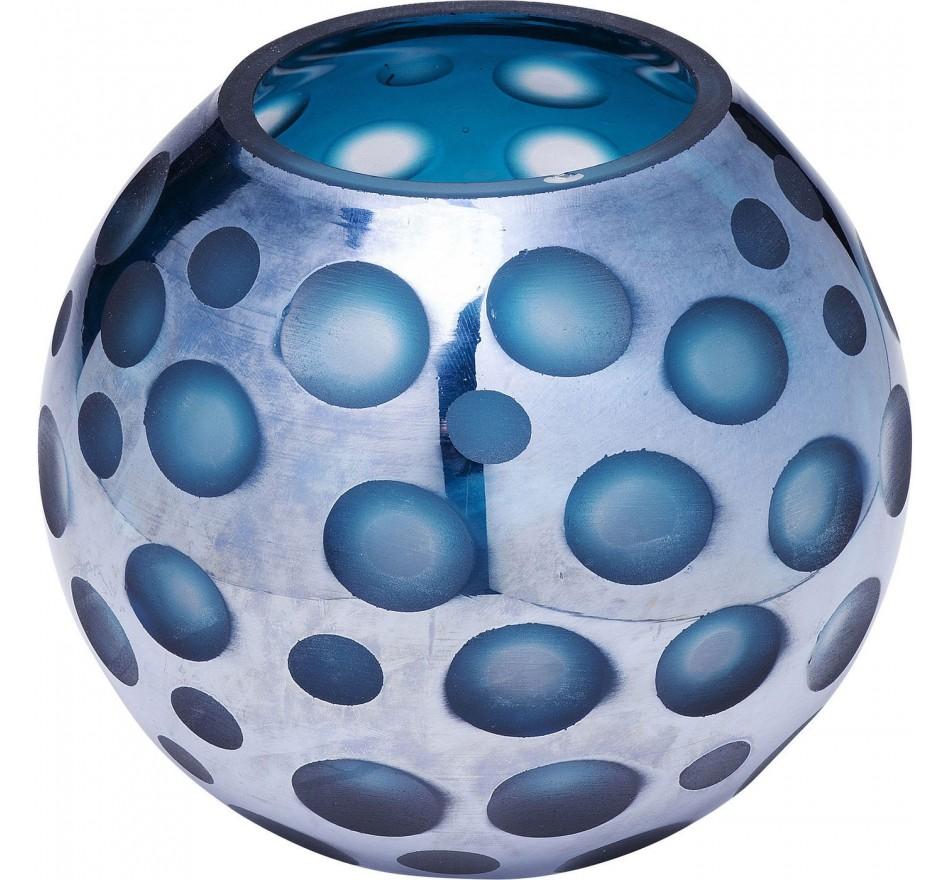 Vase Blue Dots 17cm