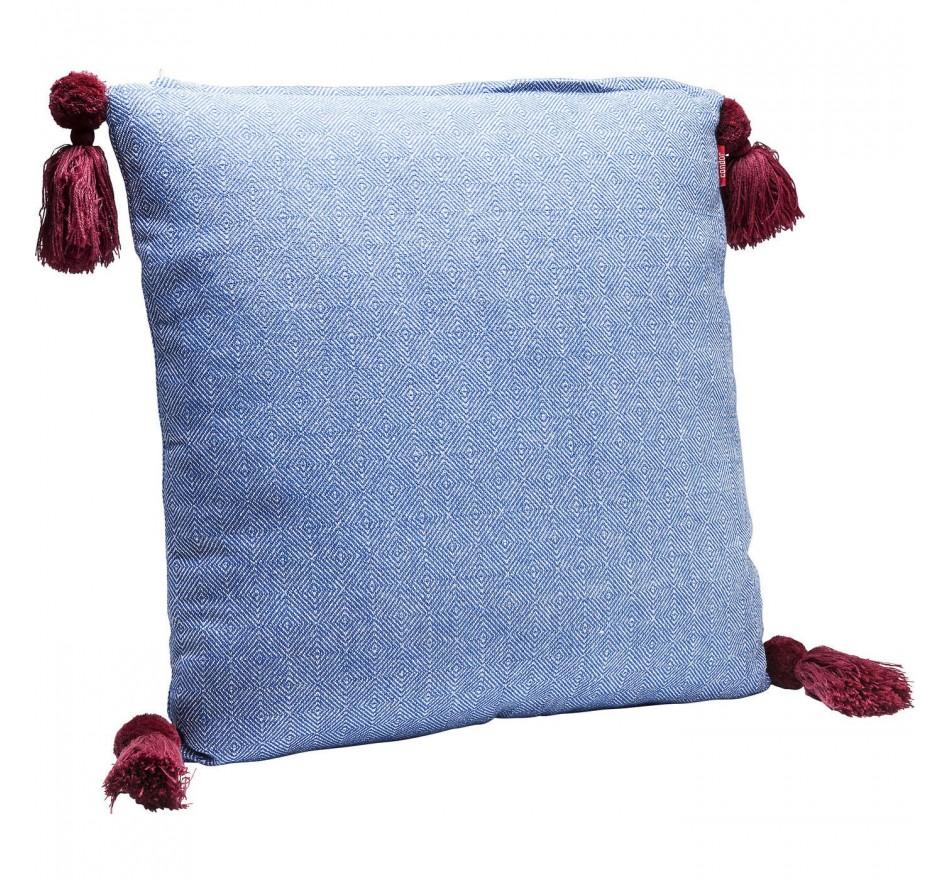Coussin Louis Pop losanges bleus 50x50cm Kare Design
