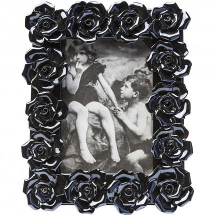 Cadre Rose bleu noir 15x10cm Kare Design