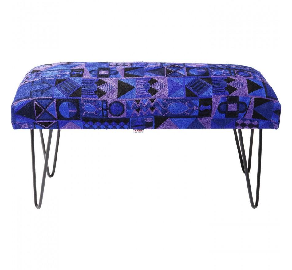 Banc Izzy Gaga bleu 80cm Kare Design