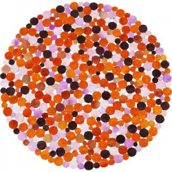 Tapis Circle orange multi 150cm Kare Design