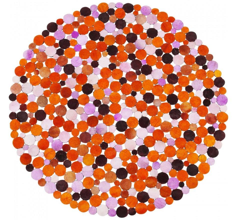 Tapis Circle orange multi 150cm Kare Design