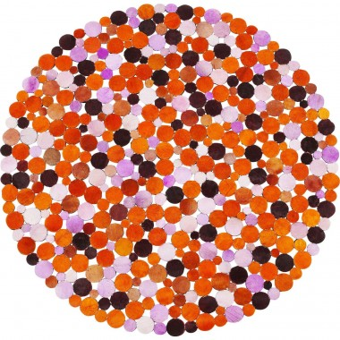Tapis Circle orange 150cm Kare Design