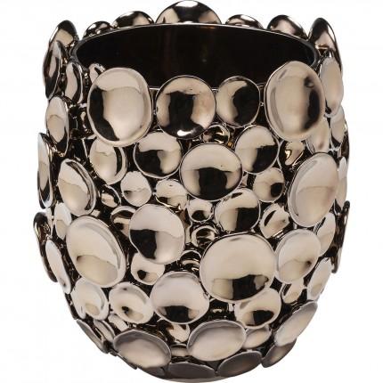 Vase Circles cuivre 25cm Kare Design