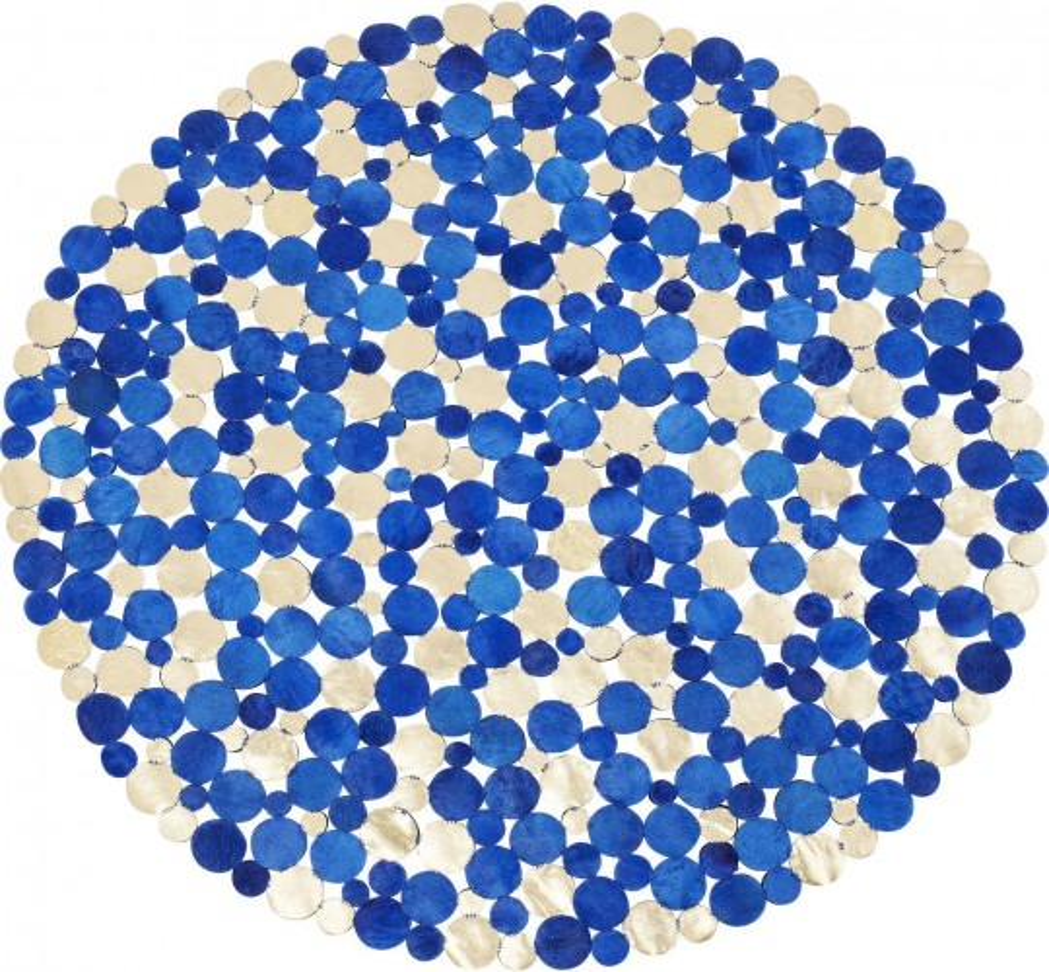 Tapis Circle bleu et doré 150cm Kare Design