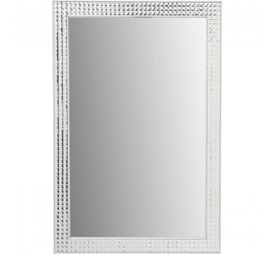 Miroir Crystals Steel blanc 80x60cm Kare Design
