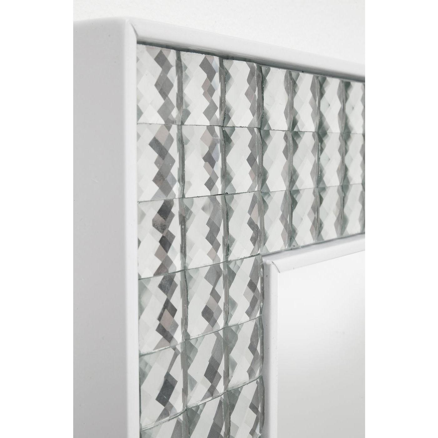 Miroir Crystals blanc 80x60cm Kare Design