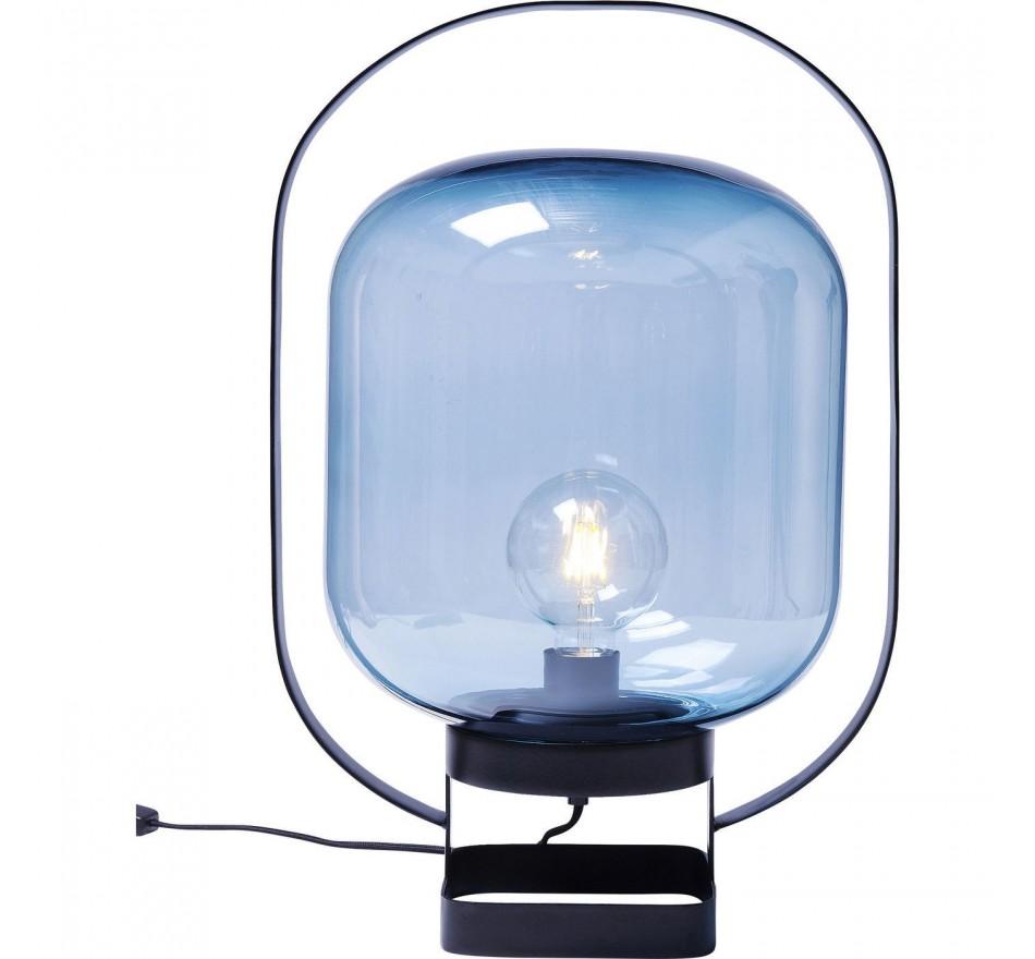 Lampe de table Jupiter bleu et noir Kare Design