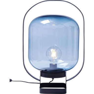 Lampe de table Jupiter bleu et noir Kare Design