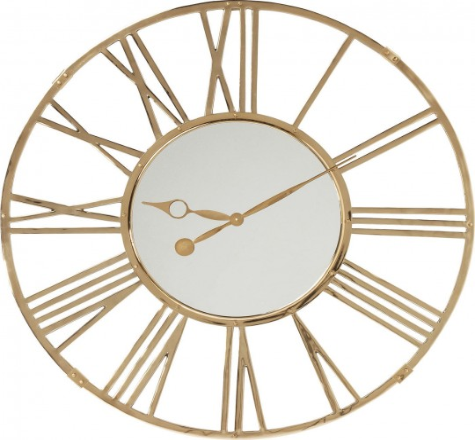 Horloge murale Giant dorée 120cm Kare Design