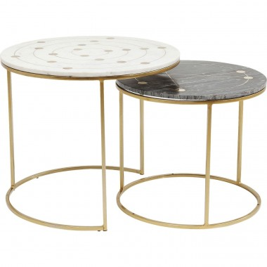 Tables d'appoint Mystic set de 2 Kare Design