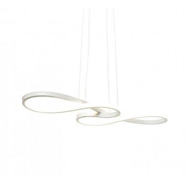 Suspension Snake blanche LED Kare Design
