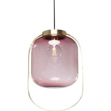 Suspension Jupiter fuchsia et laiton Kare Design