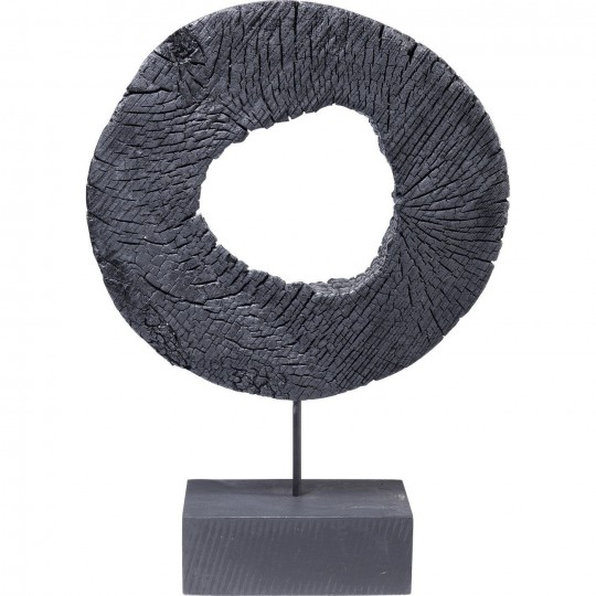 Déco Ring Of Fire noir 43cm Kare Design