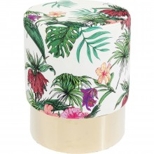 Tabouret Cherry jungle et laiton Kare Design