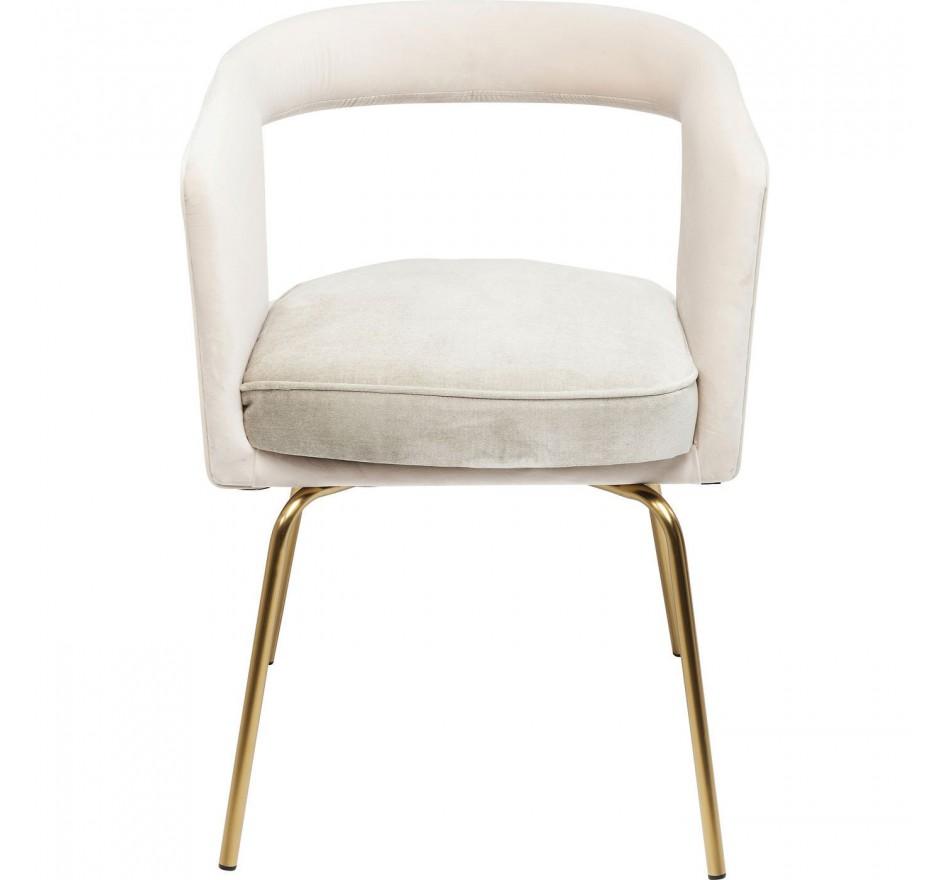 Chaise avec accoudoirs Rimini écru Kare Design