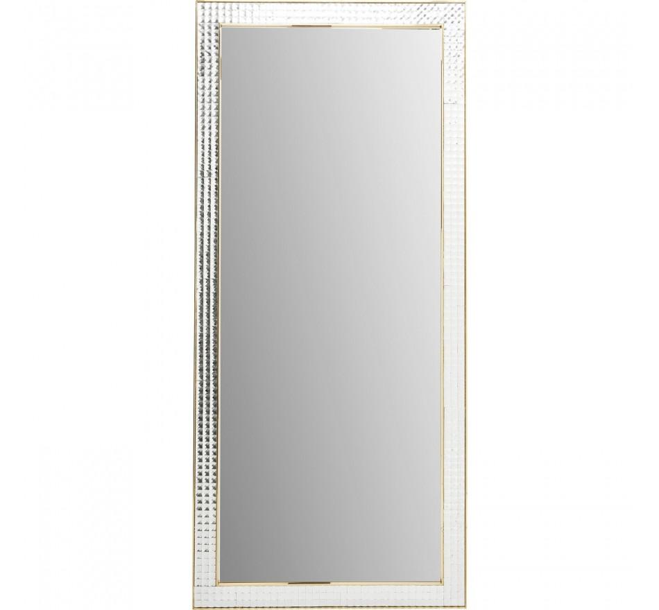 Miroir Crystals Steel doré 180x80cm Kare Design