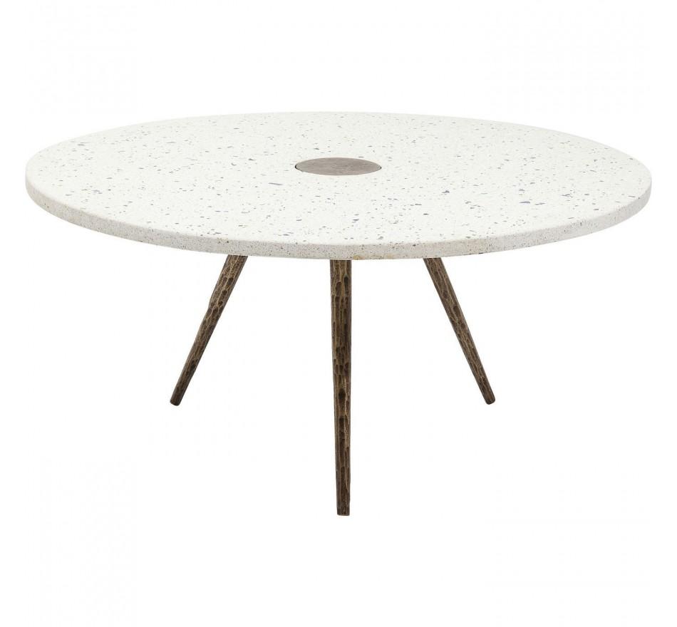 Table basse Terrazzo blanche 92cm Kare Design