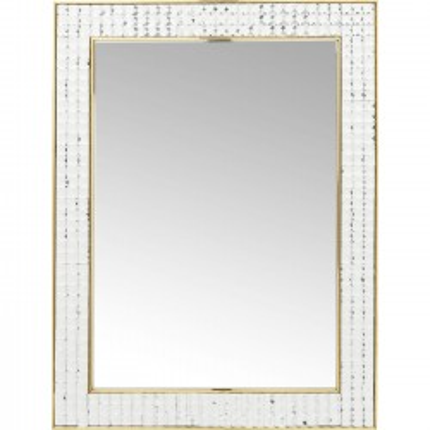 Miroir Crystals doré 80x60cm Kare Design