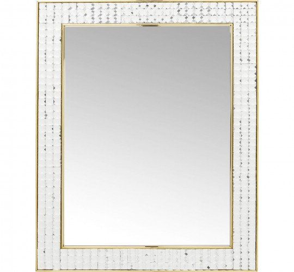 Miroir Crystals Steel doré 80x60cm Kare Design