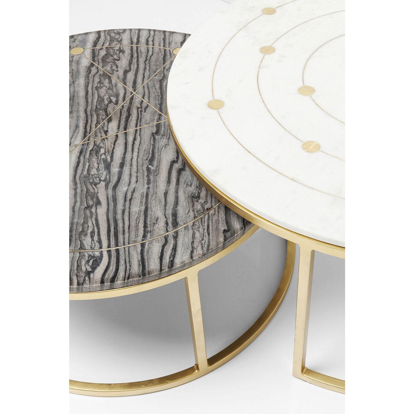 Tables basses Mystic rondes set de 2 Kare Design