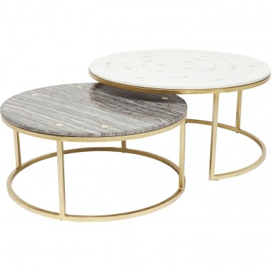 Tables d'appoint Mystic rond set de 2 Kare Design