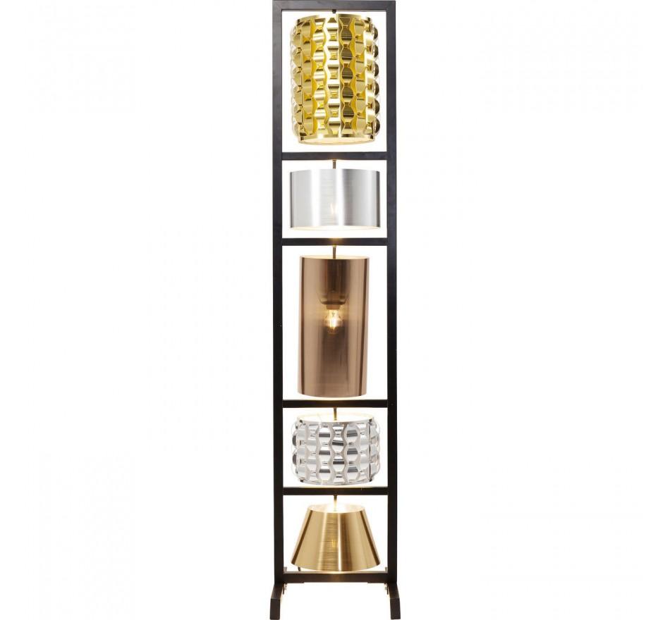 Lampadaire Parecchi glamour noir 180cm Kare Design
