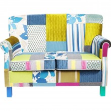 Sofa Patchwork Stripes 2-places