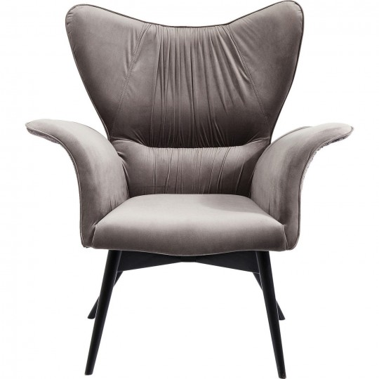 Fauteuil Wall Street Ornament velours Kare Design