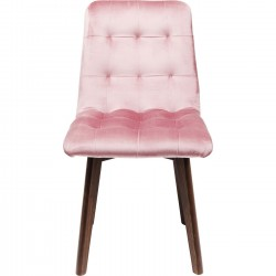 Chaise Moritz velours rose Kare Design