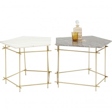 Tables d'appoint Mystic Pentagon 38 et 46 cm set de 2 Kare Design