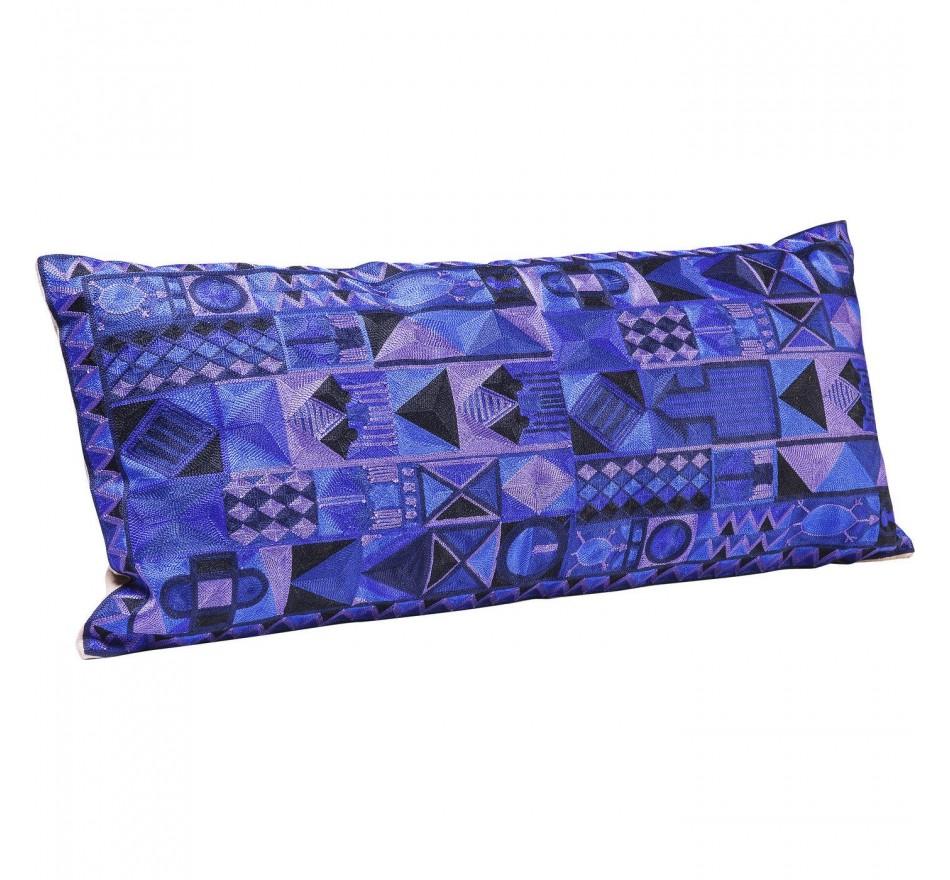 Coussin Izzy bleu 80x35cm Kare Design