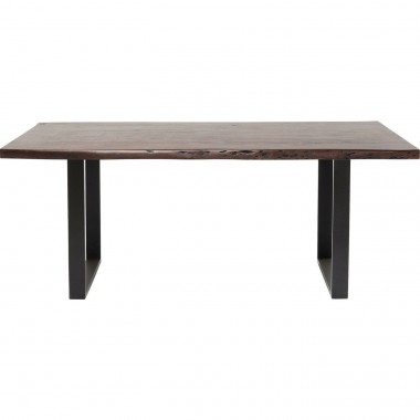 Table Pure Nature noire noyer 180x90cm Kare Design