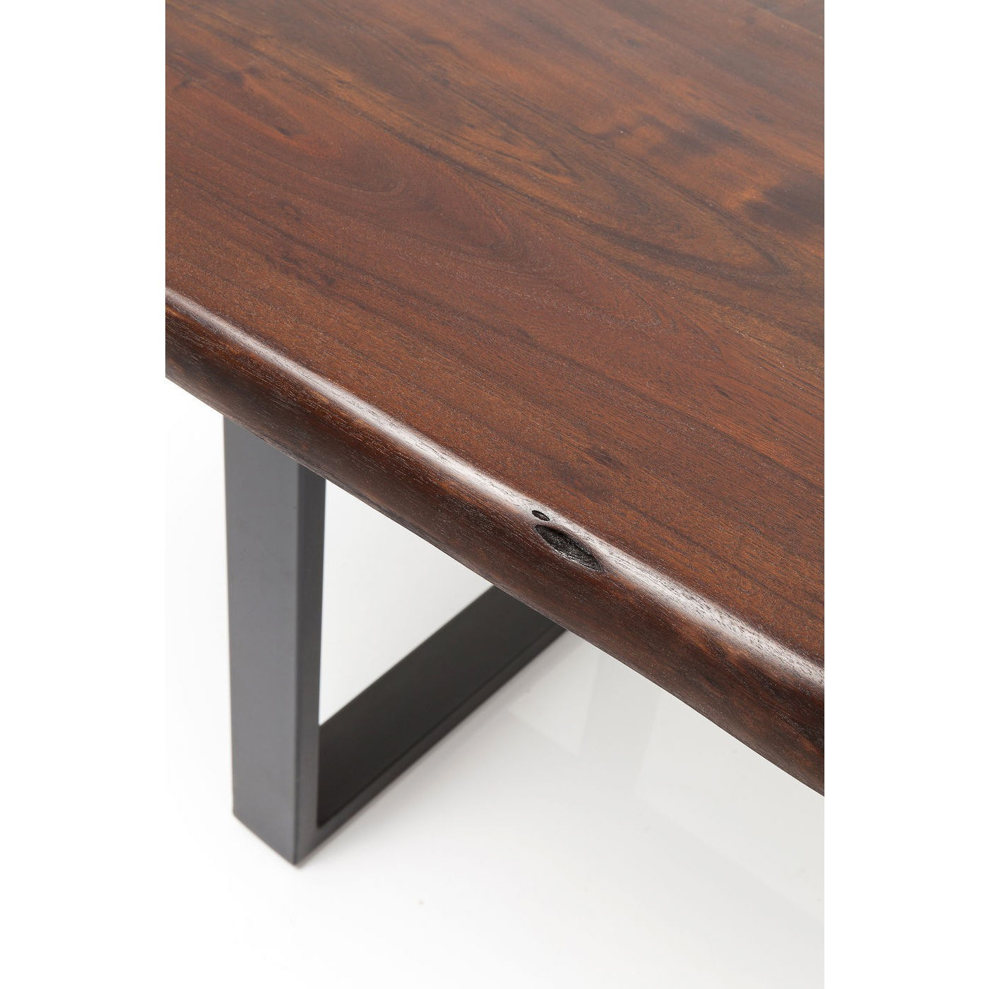 Table Pure Nature 180x90cm noire noyer Kare Design