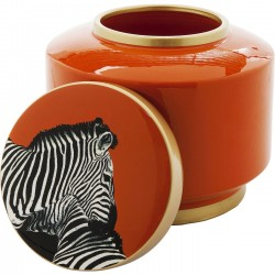 Boîte Zebra orange 19cm Kare Design
