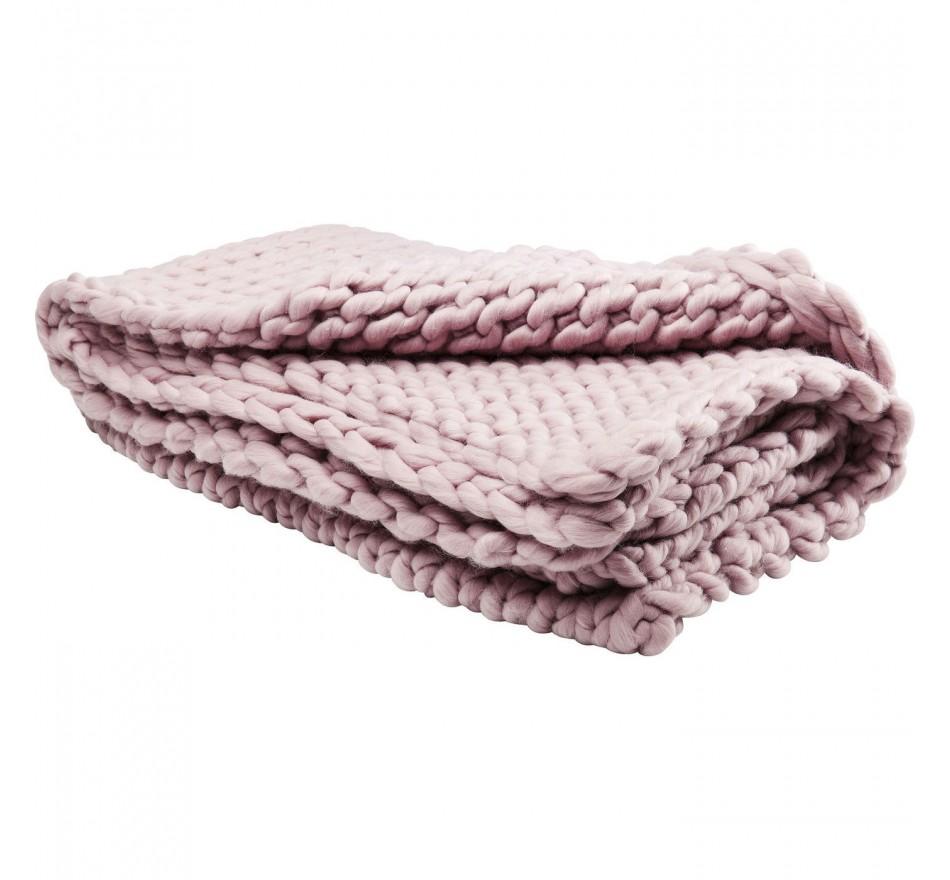 Plaid Yarn lilas 127x152cm Kare Design