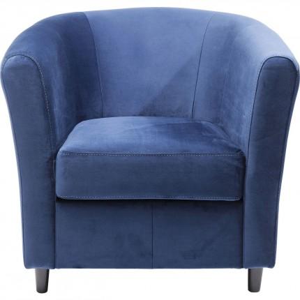 Fauteuil Africano velours bleu Kare Design