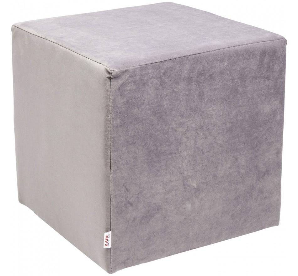 Tabouret Velvet gris argenté Kare Design