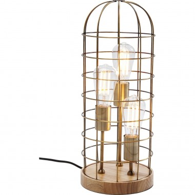 Lampe de table Cage Tre bois Kare Design