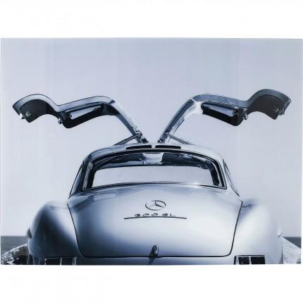 Tableau en verre voiture de collection 120x160cm Kare Design