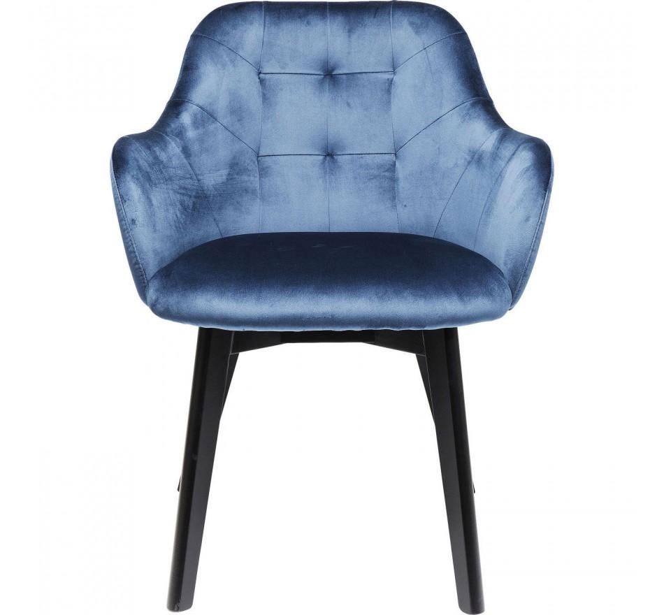 Chaise avec accoudoirs Lady Stitch bleue Kare Design
