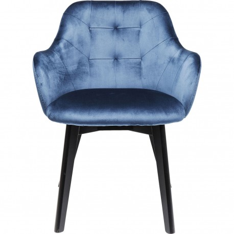 Chaise avec accoudoirs Lady Stitch bleue Kare Design